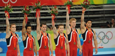 U.S Men's Gymnastics Team Wins Bronze Medal in Beijing