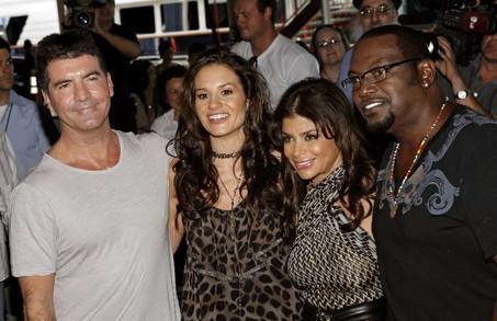 Idol Judges Simon Cowell, Kara DioGuardi, Paula Abdul and Randy Jackson