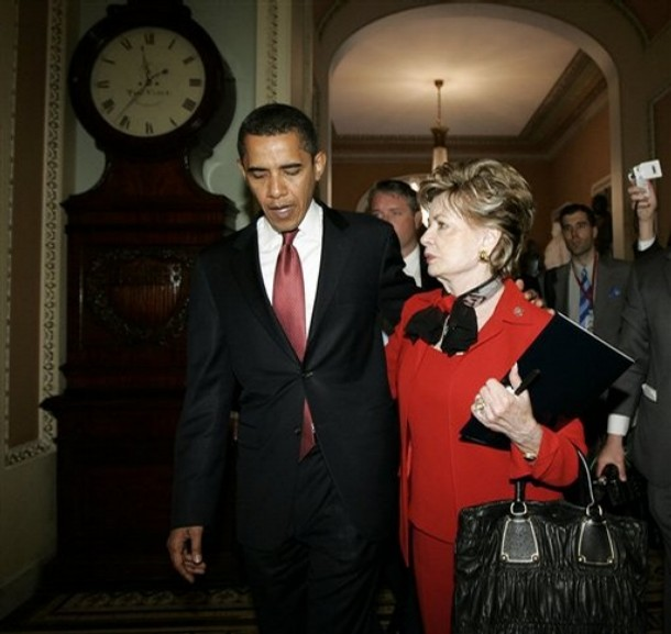 President Elect Barack Obama and Guam Delegate Madeleine Bordallo