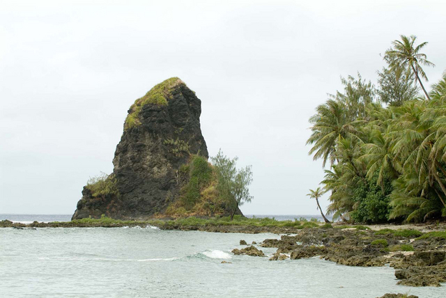 Fouha Rock  Creation god Fu'una used her supernatural power to create part of the world by throwing her body into the earth and creating Fouha Rock, were the first human beings emerged. Victor Consaga/Guam Humanities Council