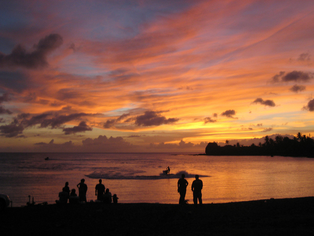 A Beautiful Sunset on Guam ( Photo Courtesy of Guampedia)