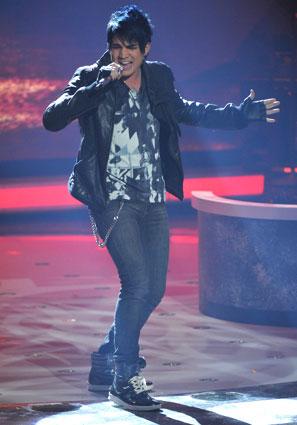"Adam Lambert sings ""Born to Be Wild"" (Photo Courtesy of Newsday.com)"