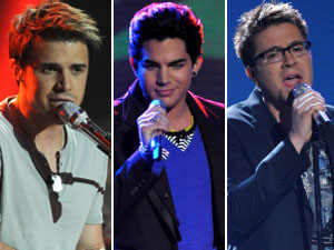 Kris Allen, Adam Lambert , Danny Gokey