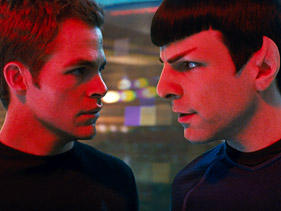 "Chris Pine and Zachary Quinto in ""Star Trek""  Photo: Industrial Light and Magic/Paramount"