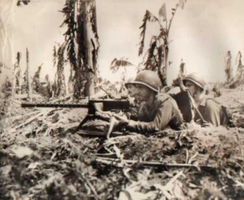 WWII US Marines Sniping Snipers Guam Photo
