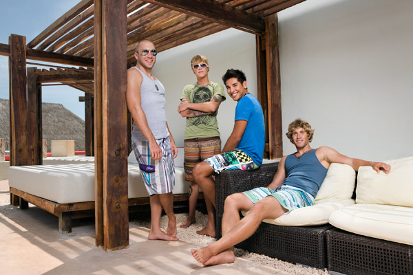 The guys of Real World Cancun