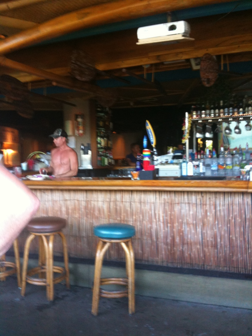 The bar at Hula's