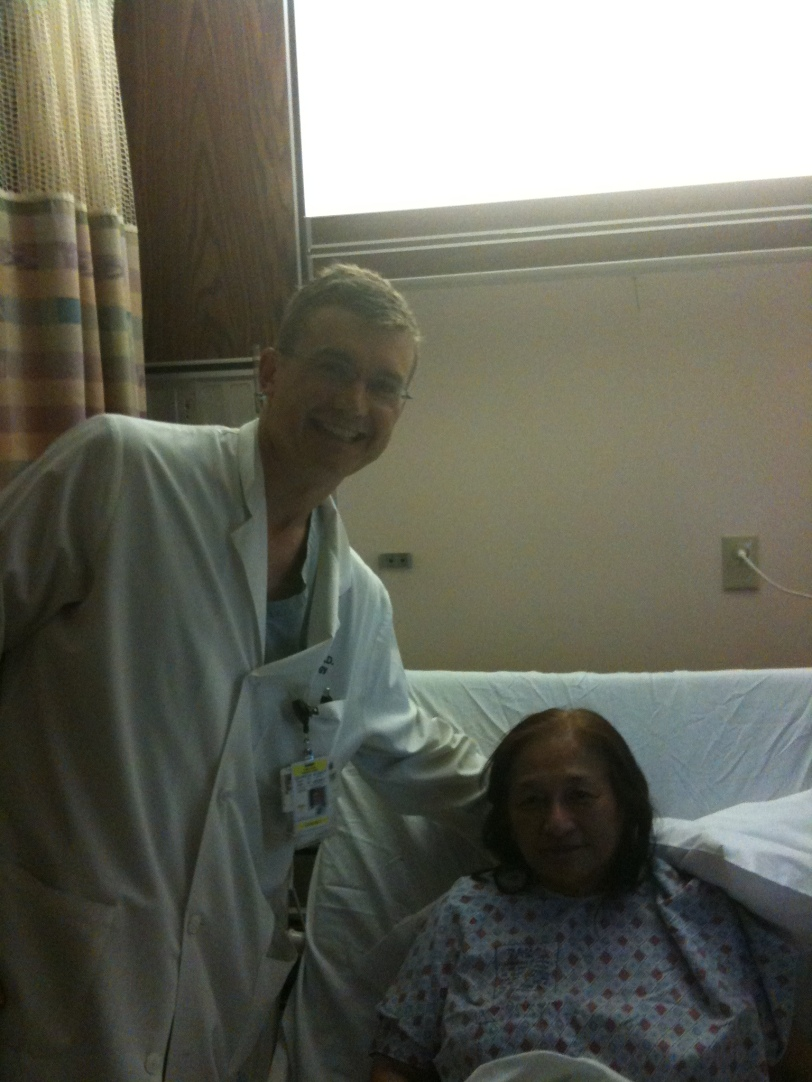 "Mom and her Surgeon  Dr. ""Harry Potter"""