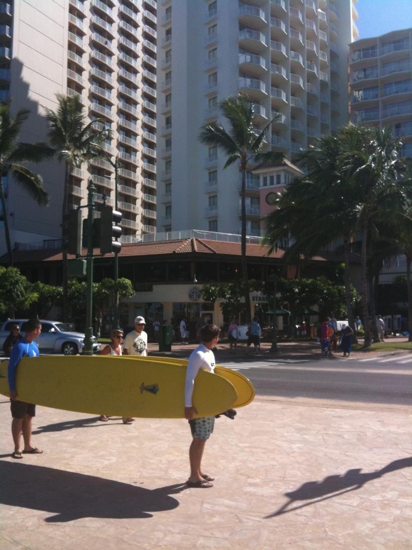 Along Waikiki Beach