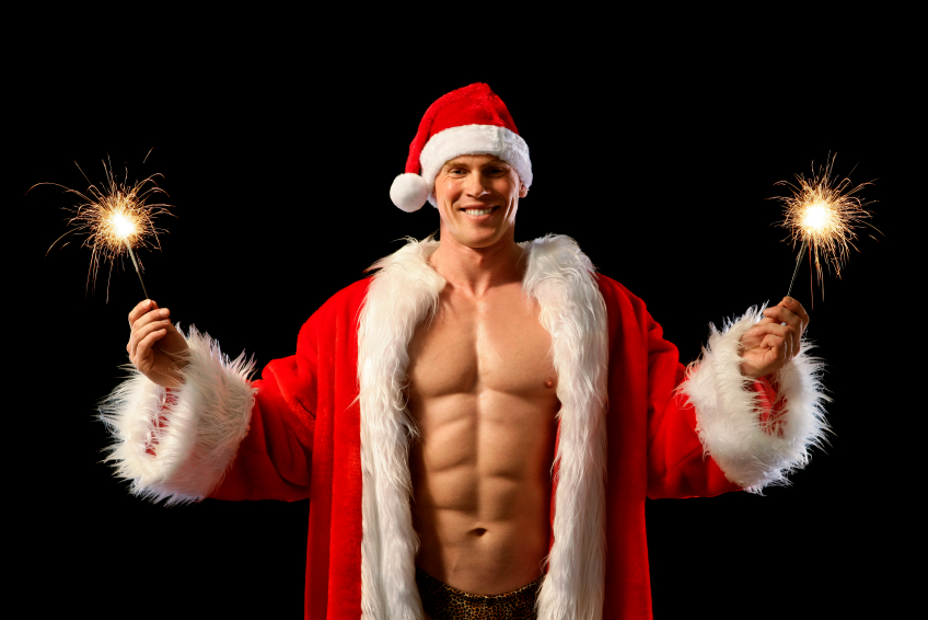 Merry christmas sexy men