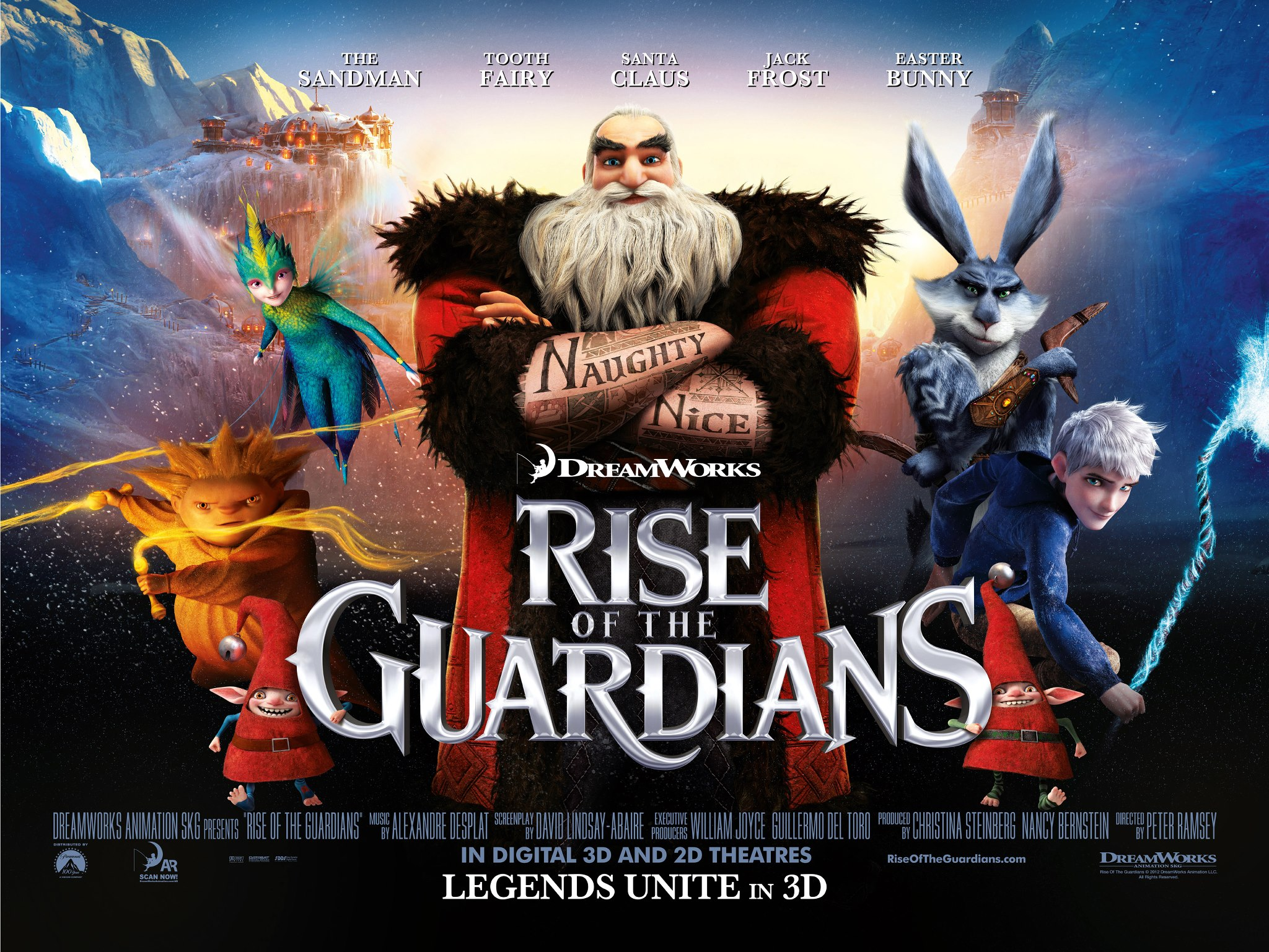 rise of the guardians holiday classic is born with the spirit of