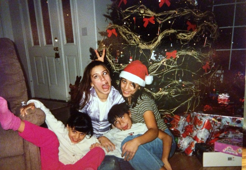 My children being goof offs like their dad.  We always have fun during Christmas