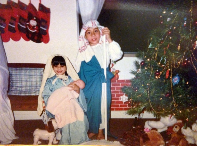 Rissa and Andrew used to help reenact the Christmas story as I read from the scriptures on Christmas Eve