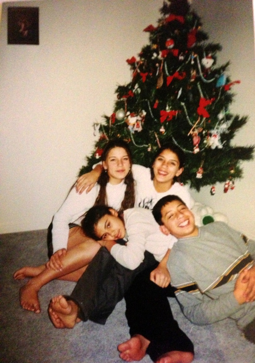 My children goofing off during a Christmas years ago...we always have fun!