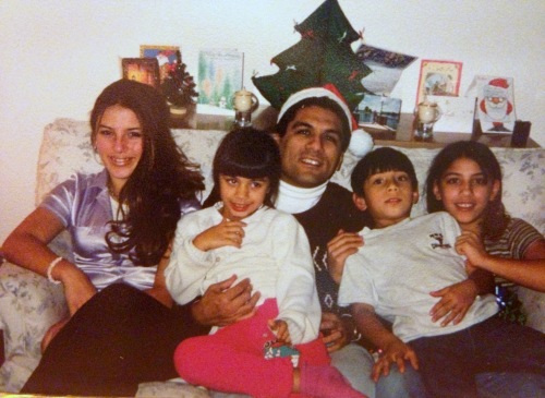 The children and I from a Christmas past