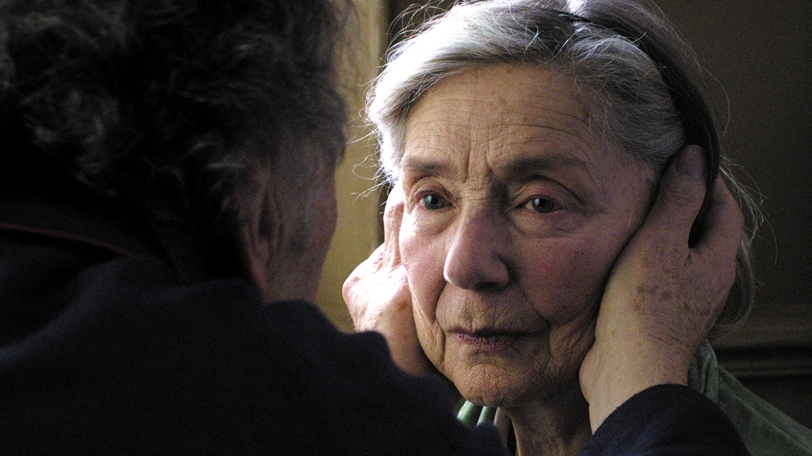 Emmanuelle Riva in Amour.  Photo care of Fact.com