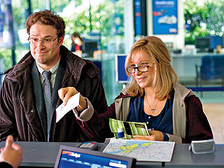 Seth Rogen and Barbra Streisand in The Guilt Trip