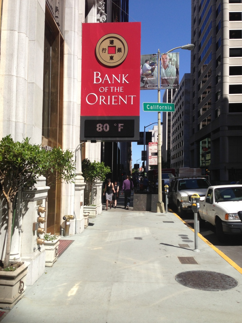 Bank of the Orient  Marquee Sansome Street , San Francisco Photo by JP Leddy 2013