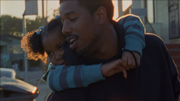 Michael B. Jordan with Ariana Neal in Fruitvale Station