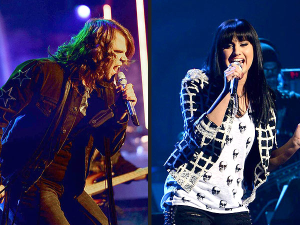 American Idol: Caleb Johnson and Jena Irene Rock It Out. Caleb Johnson and Jena Irene. Michael Becker/FOX