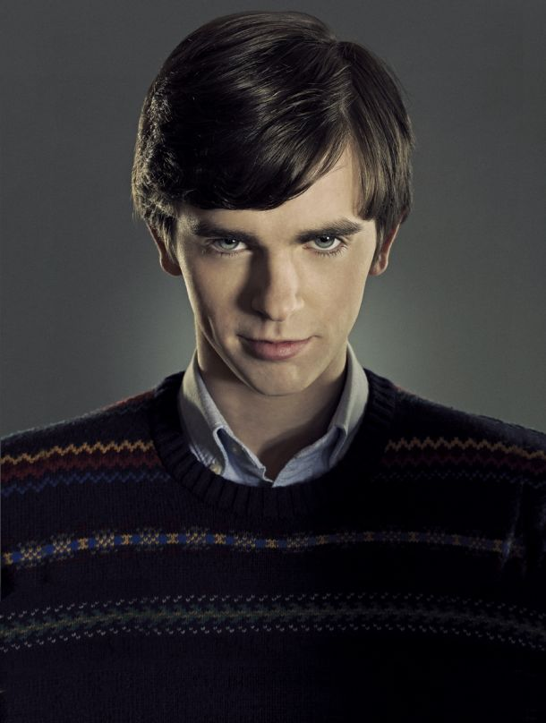 Freddy Highmore as Norman Bates on the A&E show: Bates Motel