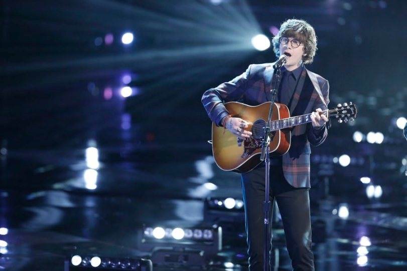 "THE VOICE — ""Live Show"" Episode 718A — Pictured: Matt McAndrew — (Photo by: Tyler Golden/NBC)"